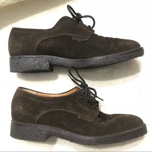 """BALLY """"Nolesine"""" Brown Suede Lace Up Oxfords 36"""